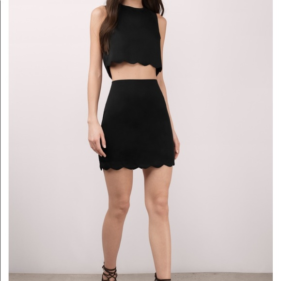 a78d29023c Tobi Skirts   Scallop Crop Top Skirt Set   Poshmark